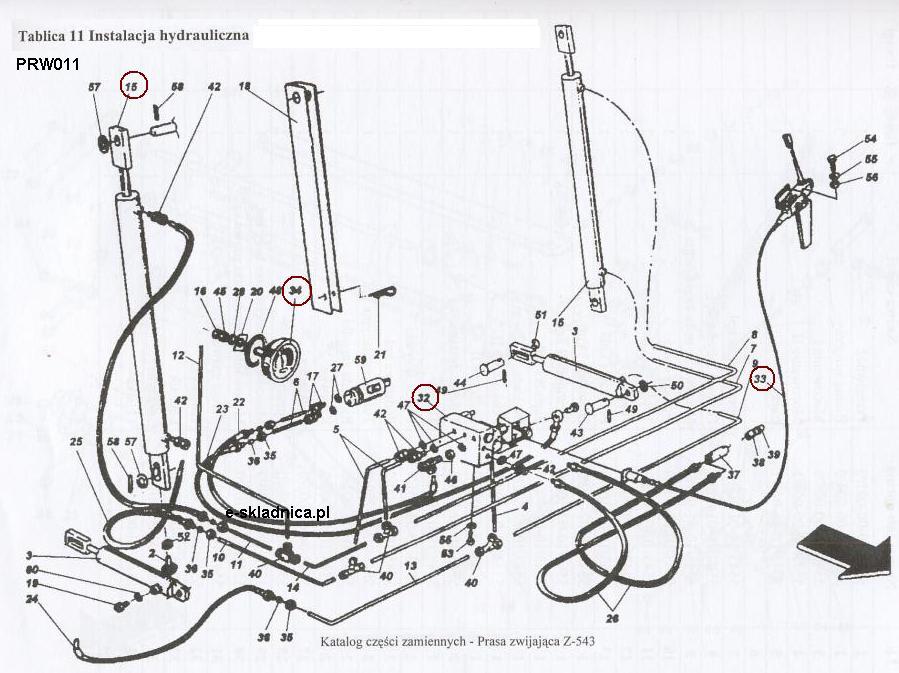 Instalacja hydrauliczna Z-543