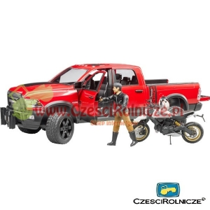 BRUDER 02502  Dodge RAM 2500 Power Wagon z motorem Ducati