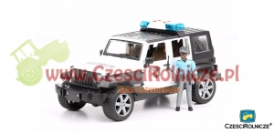 BRUDER 02527  Radiowóz JEEP Wrangler Unlimited Rubicon