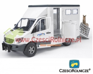 BRUDER 02533 MERCEDES SPRINTER DO PRZEWOZU KONI